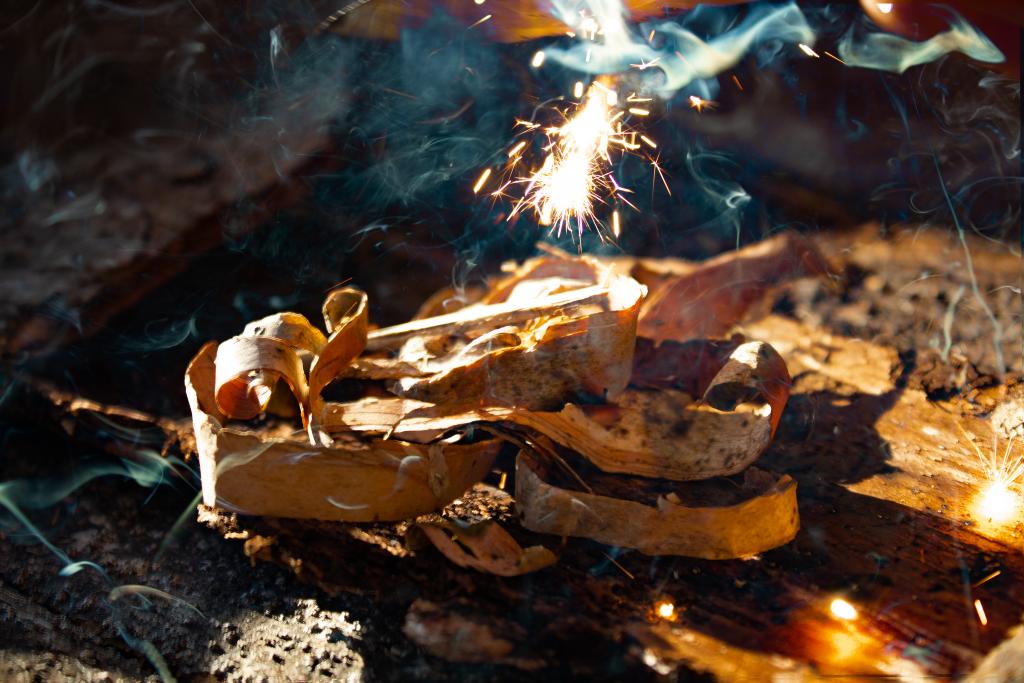 Bushcraft vuur firesteel kinderfeestje